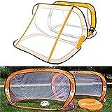HITSAN 2 x Mini Pop Up Soccer Goals Football Foldable Net Kids Outdoor Sports Training One Piece