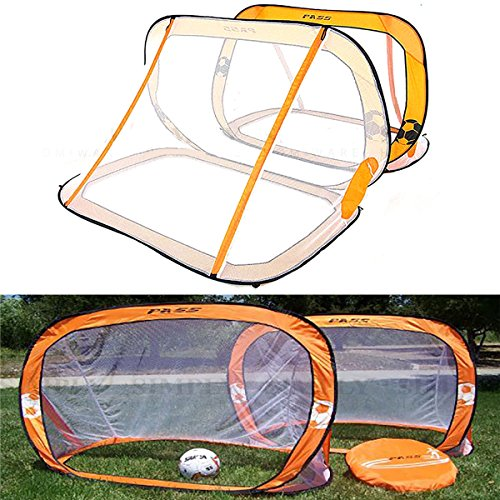 HITSAN 2 x Mini Pop Up Soccer Goals Football Foldable Net Kids Outdoor Sports Training One Piece by HITSAN
