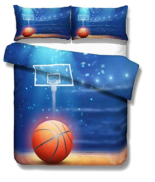 NYLIN Fundas Nórdicas Baloncesto Llama 3D Colcha Estampada Baloncesto Deportes Juego De Ropa De Cama 2-4 PCS Fundas De Edredón Nórdico/Fundas De ...