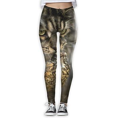 TIA HICKS Women's Cat Bird Yoga Pants Compression Comfy Yoga Capris Power Flex Running Pants Workout Leggings