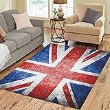 british 5x7ft - InterestPrint Home Decoration Retro Union Jack Art Area Rug 7' x 5', British Flag Carpet Rugs for Home Living Dining Room
