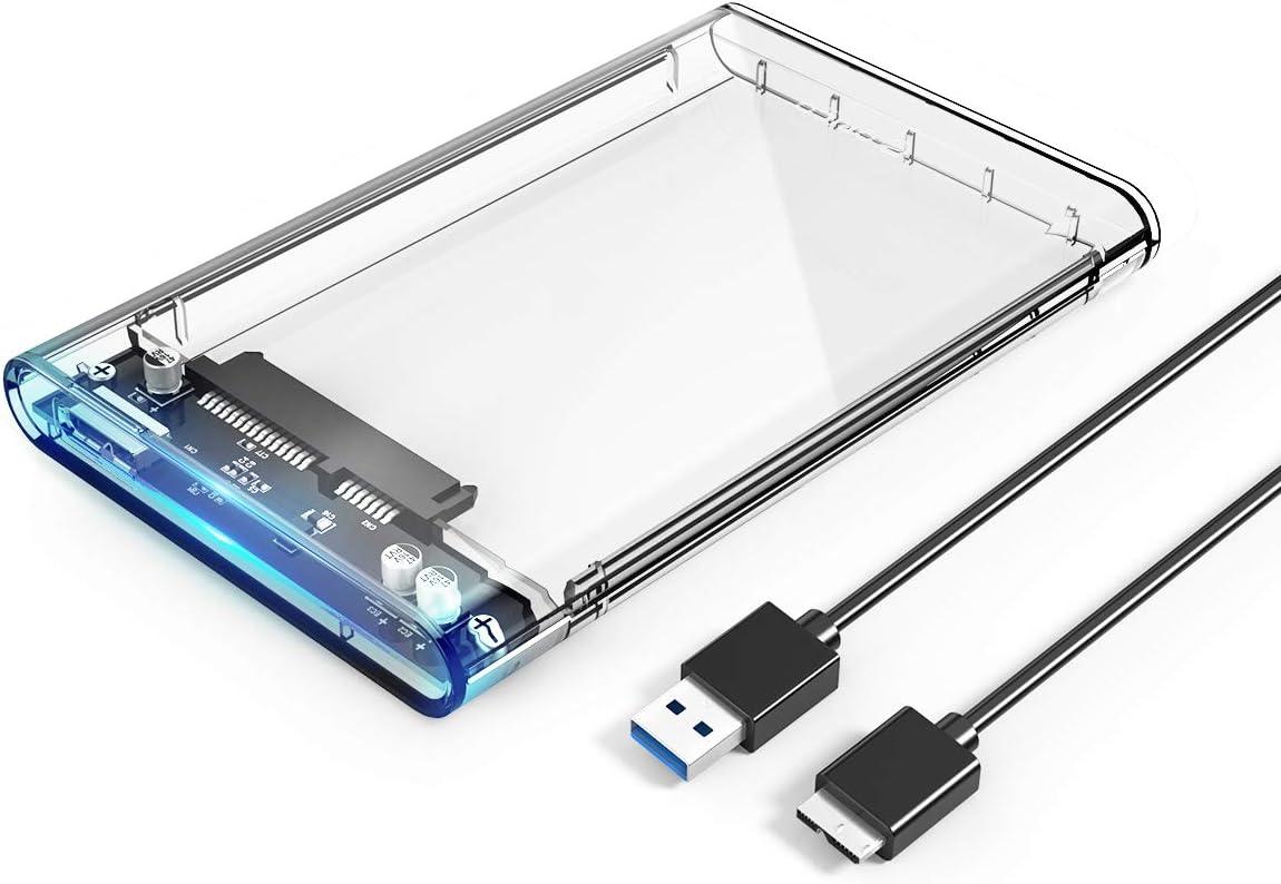 "ORICO Transparent 2.5/"" USB 3.0 External Hard Drive Enclosure Case SATA HDD"