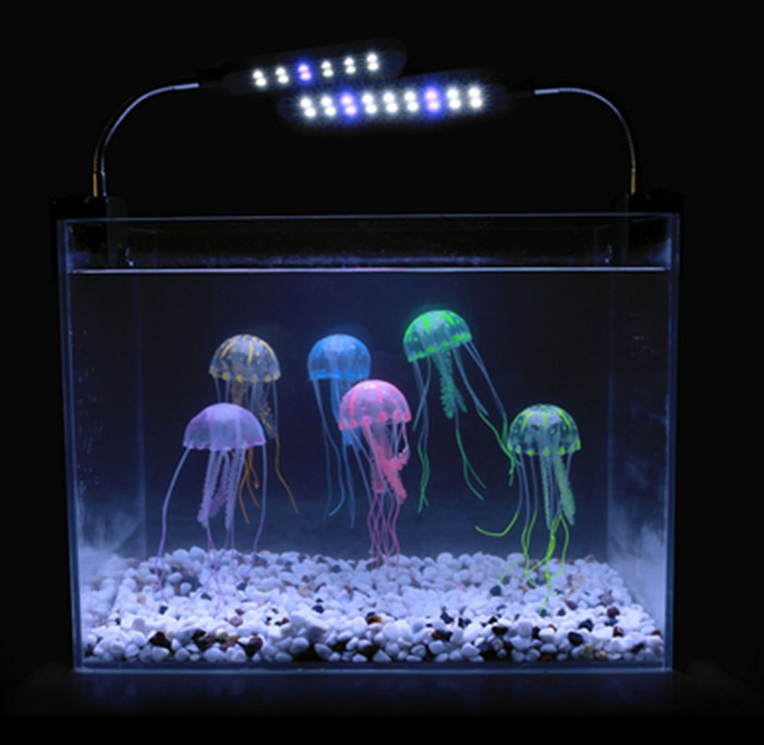 Artificial aquarium fish tank - Amazon Com Lesypet 15 Pcs Glowing Effect Artificial Jellyfish For Aquarium Fish Tank Decorate Blue Green Orange Pink Yellow Pet Supplies