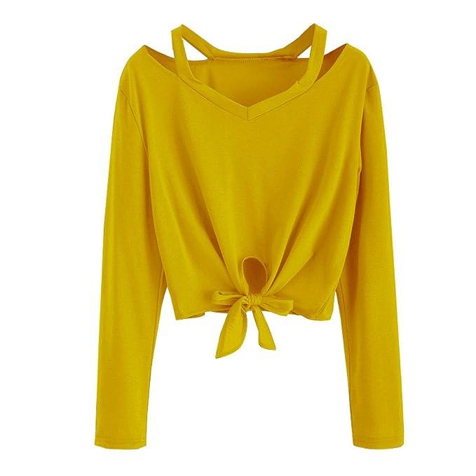 BBsmile Mujeres Sudaderas Manga Larga Casual con Capucha Manga Larga Sudaderas Jersey de Bolsillo Impresión de Camisa de Entrenamiento Mujer Blusa Tops para ...