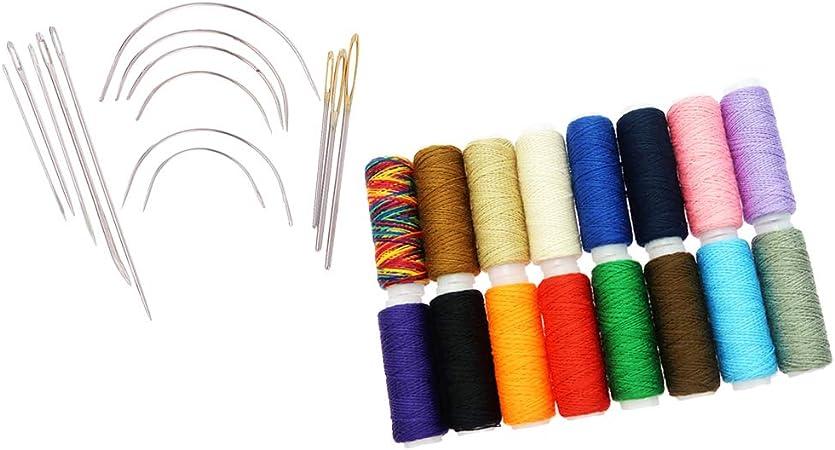 Poliéster Hilos de Costura Cordón de Cuero para Manualidades para Bordado, Zurcido con Alfiler de Coser a Mano: Amazon.es: Hogar