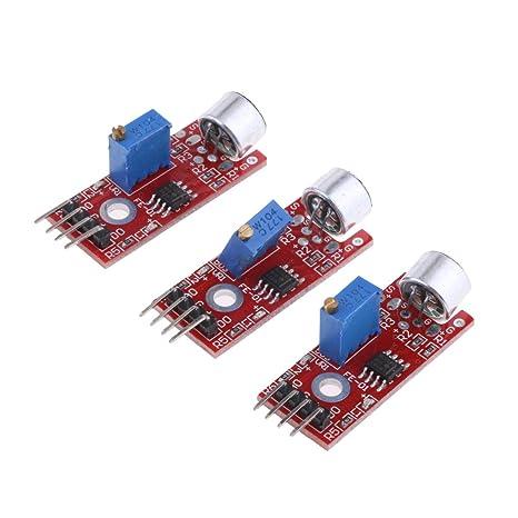 Baoblaze 3pcs Módulo Sensor de Detección de Sonido compatible con Arduino AVR PIC Herramientas