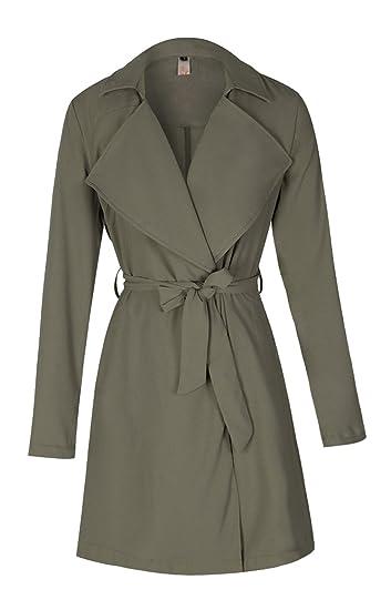 Longue Veste Taille Chic Ceinture Coat Coupe Parka En Grande Vent Elfin Femme Légère Manteau Trench 4IqOwxq1