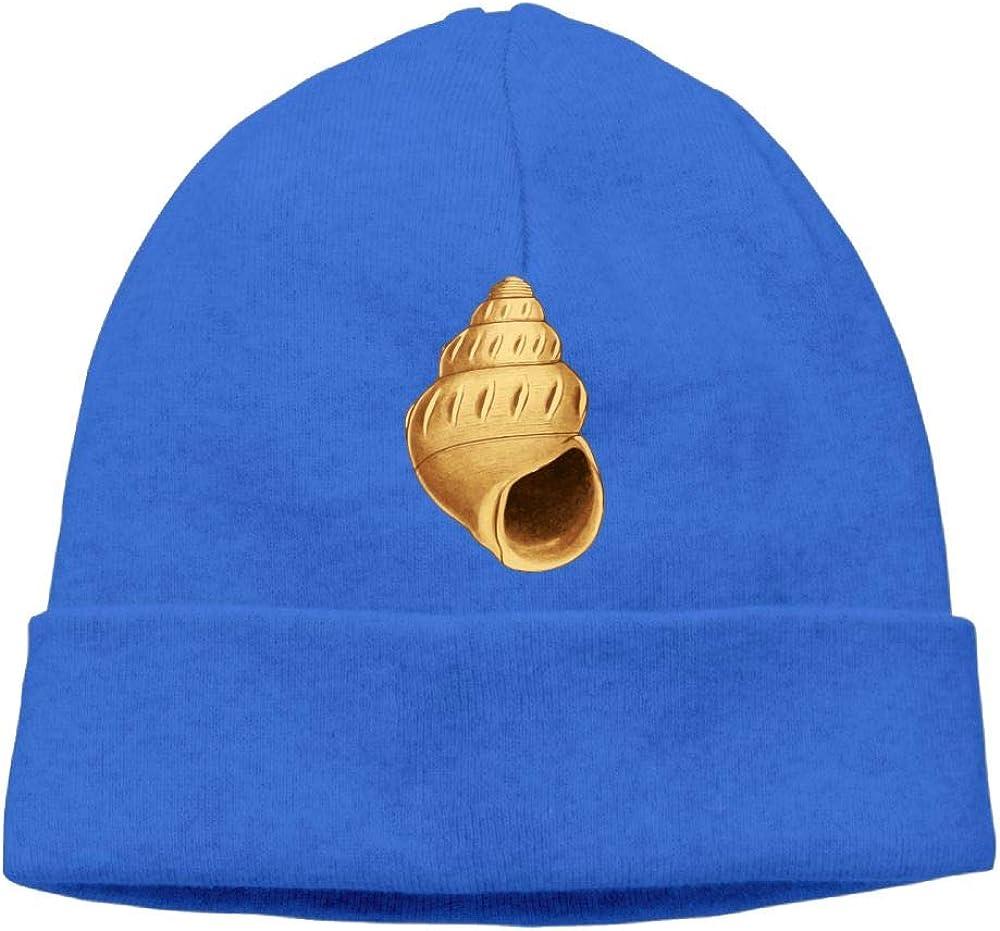 Oopp Jfhg Beanie Knit Hats Ski Cap Golden Conch Painting Mens