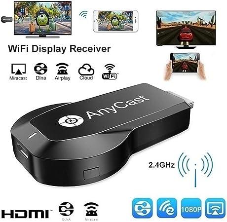 CHARGER DOCK 1080P Adaptador de HDMI TV/WiFi Pantalla Dongle/palillo de Video Streaming Teléfono/PC a HDTV/proyector/DLNA Monitor de Soporte Miracast Airplay: Amazon.es: Hogar