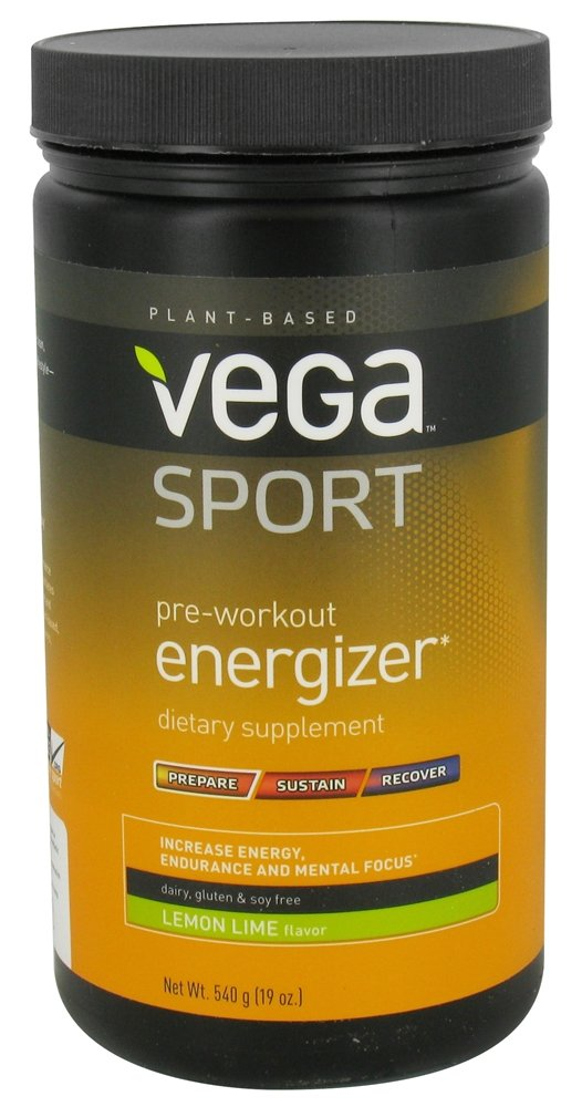 Vega Sport Pre-workout Energizer, Lemon Lime 19 oz (540 g)- 3 PACK