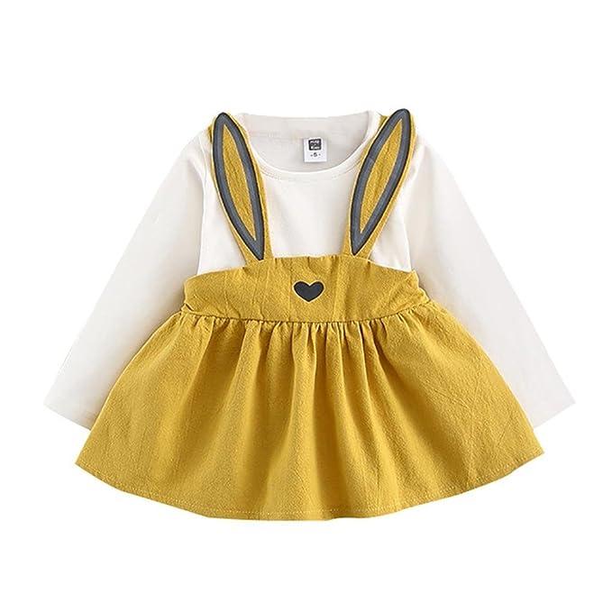 Vestidos Muchachas Bebé - Ropa Cabritos Vestidos Conejos Vestido Mangas Largas Vestido Mini Vestido Princesa Vestido Otoño Infantes Ropa Niñas 0-36 Meses ...