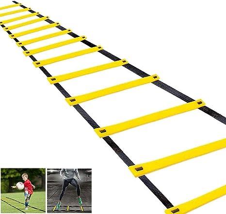 Balapig Escalera de Entrenamiento de Velocidad de Agilidad Escaleras para Fútbol Escalera de Velocidad de Fútbol Equipo de Ejercicios Equipo de Ejercicio Físico,3.5m/11.5ft: Amazon.es: Deportes y aire libre