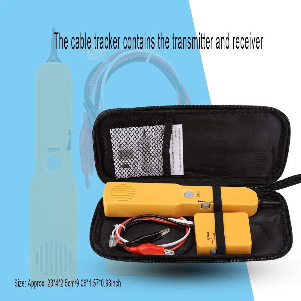Telefonleitungstest und Durchgangspr/üfung Kafuty Kabeltester-Kit Multifunktionaler Telefonleitungsfinder mit Sender und Empf/änger f/ür Netzwerkwartungssortierung