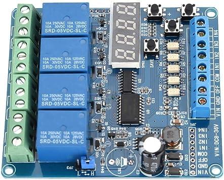 8-36V 4 canaux carte dinterface relais temporis/é multifonction DELAY Optocoupleur LED Module de relais