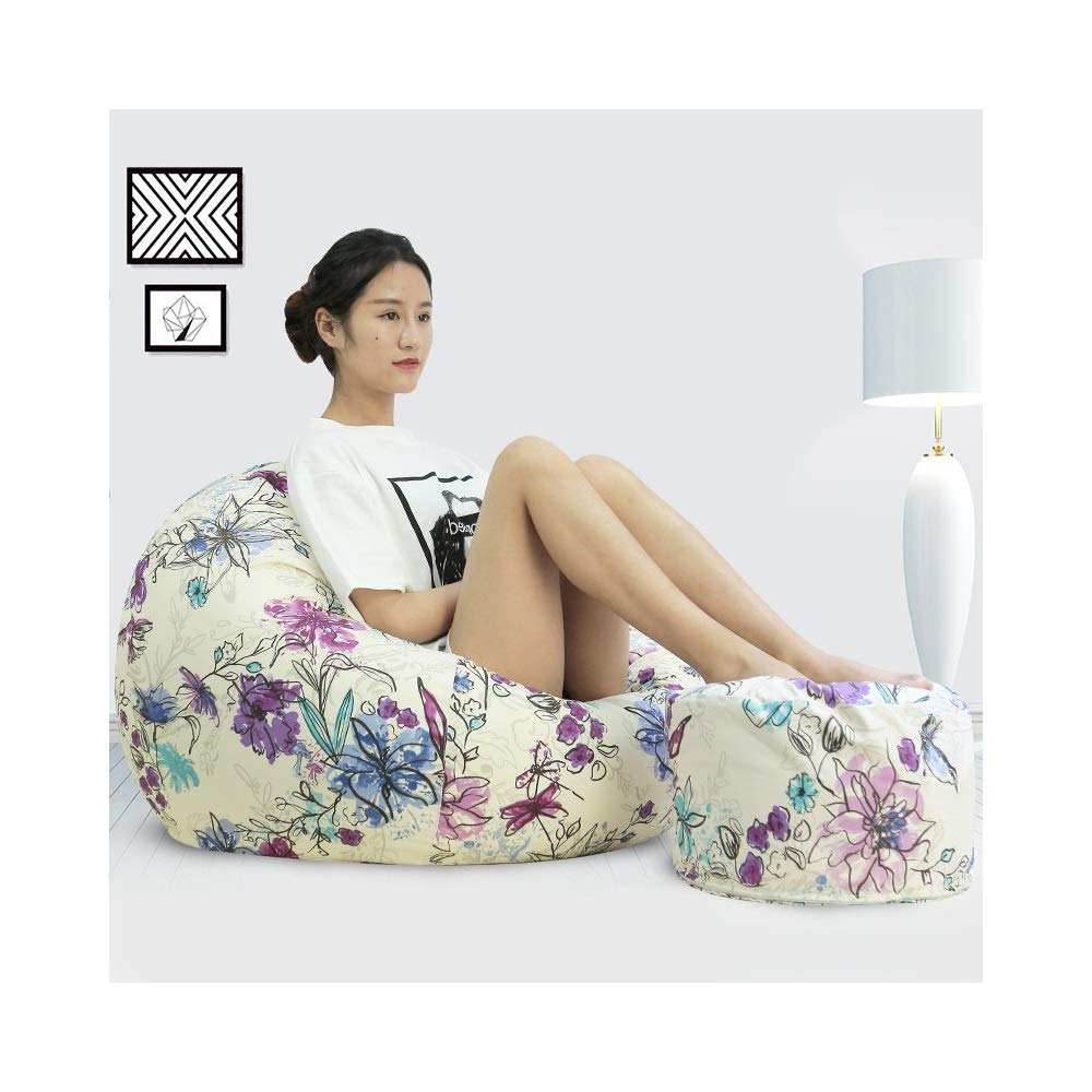 Iris X-Large TAO Multi-Farbe Lazy Sofa Tatami Sitzsack Single Cotton Sitz Schlafzimmer Wohnzimmer Mode Wild Back Sofa abnehmbar und waschbar (Farbe   Iris, Größe   XL)