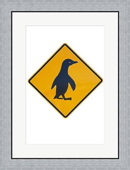 Amazon.com: Penguin Warning Sign, New Zealand by David Wall / Danita ...