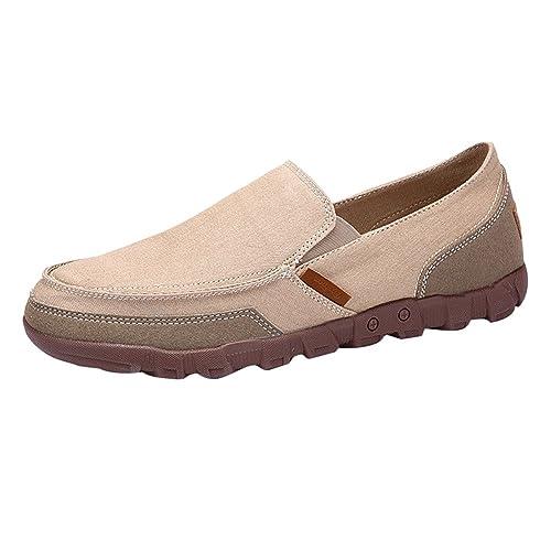 Juleya Zapatos Hombre Mocasines Plano Lona Zapatillas Entrenadores Zapatos de Tenis Moda Verano Pumps Cubierta Zapatos
