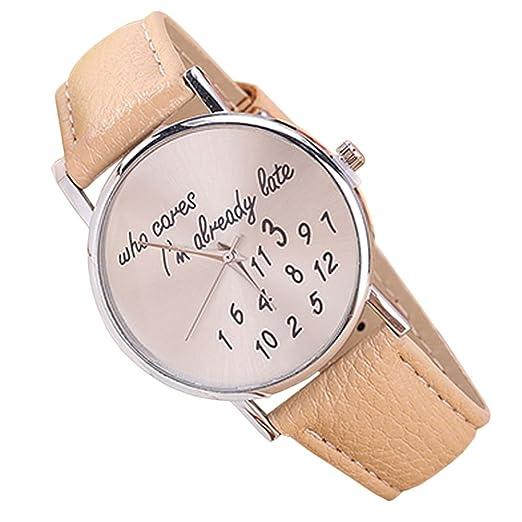 Rosepoem Relojes analógicos de cuarzo Relojes minimalistas de moda Reloj Jelly Pu Strap Reloj simple para mujeres damas Beige: Amazon.es: Relojes