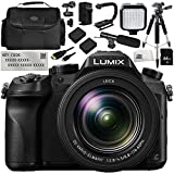 Panasonic Lumix DMC-FZ2500 Digital Camera with V-Log L Function Activation Code 12PC Bundle - Includes 64GB SD Memory Card + 2 Replacement Batteries + MORE - International Version (No Warranty)