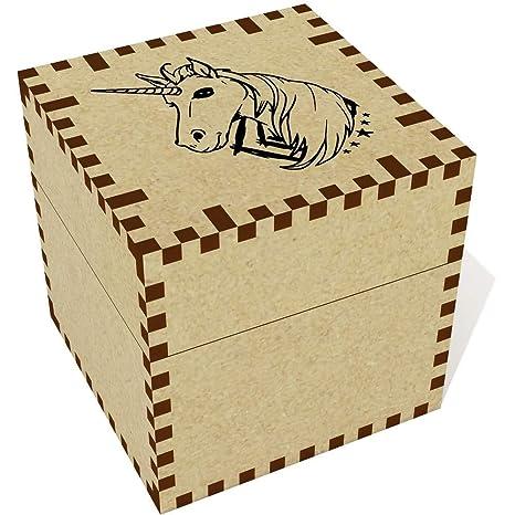 Azeeda Medio (57mm) Cabeza de Unicornio Joyería Caja (JB00055850)