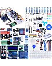 Kuman Starter Kit for Arduino UNO Upgraded Version Full Ultimate Starter Kit for Arduino Mega 2560 Microcontroller and Lots of Accessories for Arduino UNO MEGA2560 Nano Robot (NK27-DE-F)
