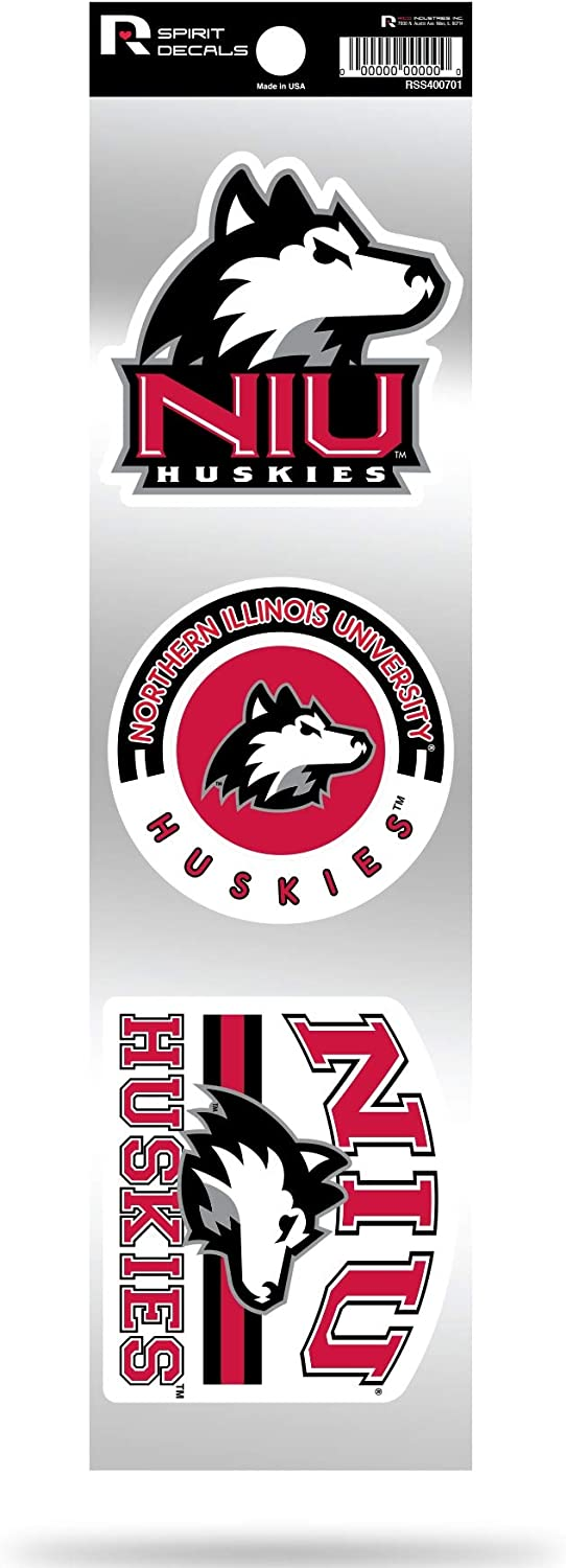 Northern Illinois Huskies NIU Triple Retro Throwback Spirit Decals Flat Vinyl Auto Home Sticker Sheet University of
