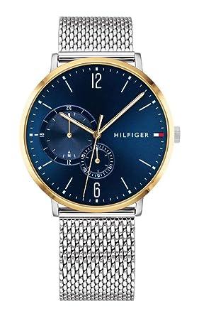 Tommy Hilfiger Reloj Multiesfera para Hombre de Cuarzo con Correa en Acero Inoxidable 1791505: Amazon.es: Relojes