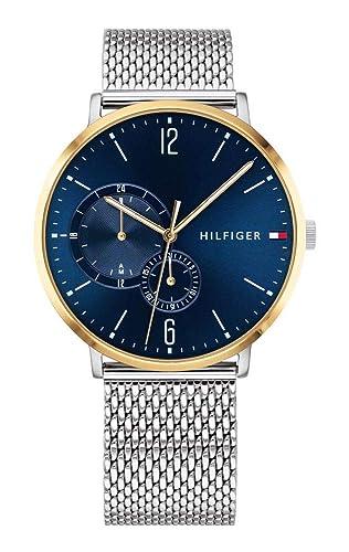 Tommy Hilfiger Herren Multi Zifferblatt Quarz Uhr mit Edelstahl Armband 1791505