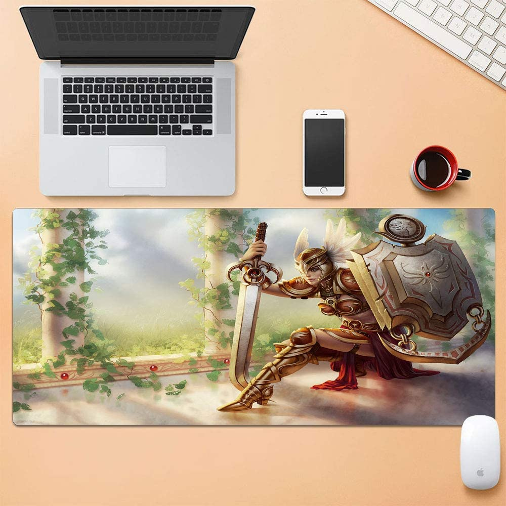 Vampsky Personalise League Legends LOL Extended Large Mouse Pad Table Mat LOL Game Character Creative Pattern Lock Non-Slip Professional Thicken Gaming Waterproof Desk Mouse Mat for Notebook PC 9040c