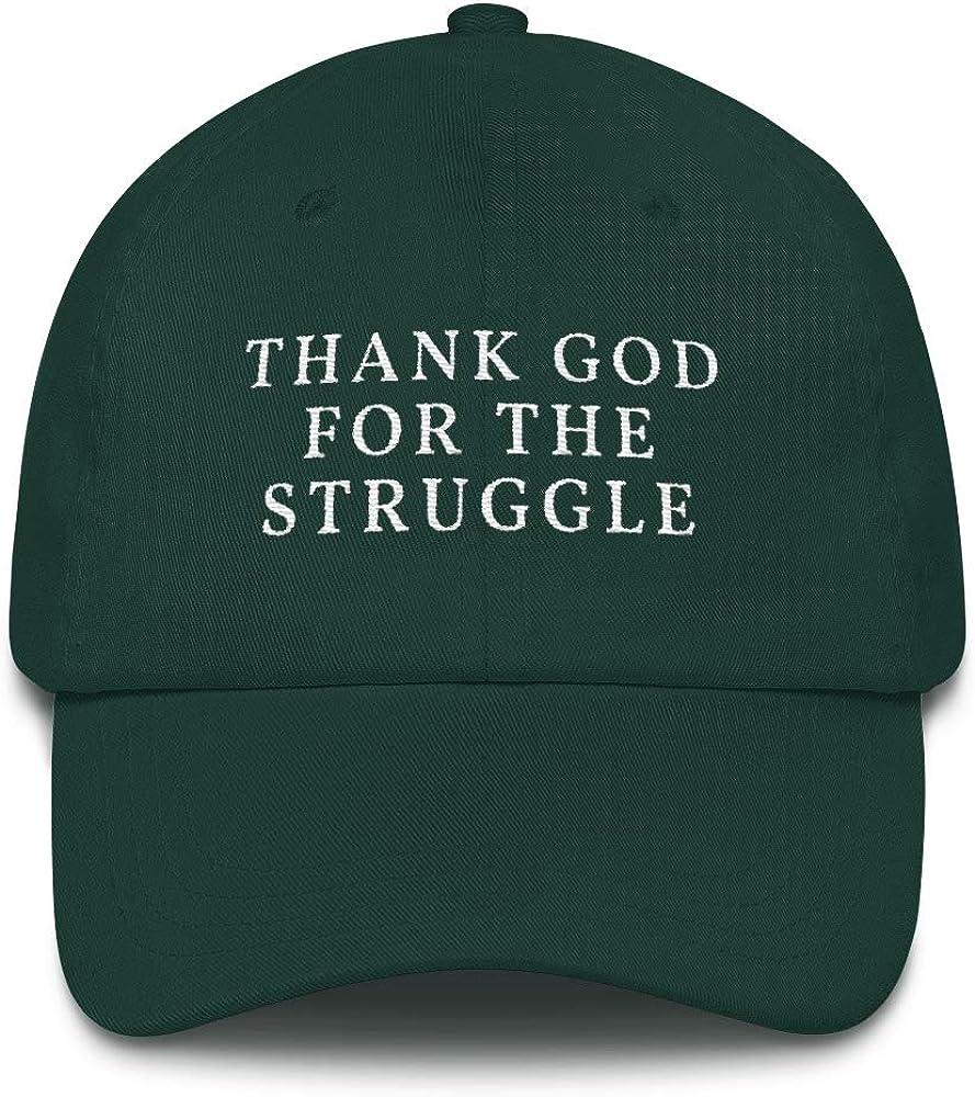 Dad hat Inspiration Quotablee Thank God for The Struggle Hat Gift Work Motivation Hustle Dedication Faith