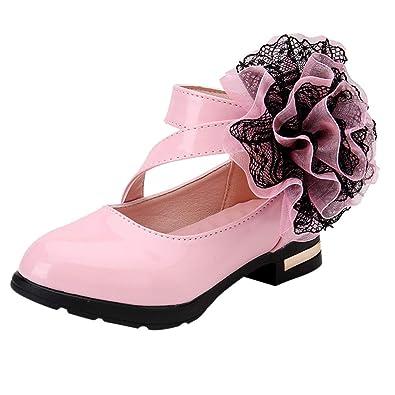 a409d21485ab7 Xmiral Chaussure Enfants Sandales Filles Fleur Cuir Princesse Unique Bateau  (27 EU
