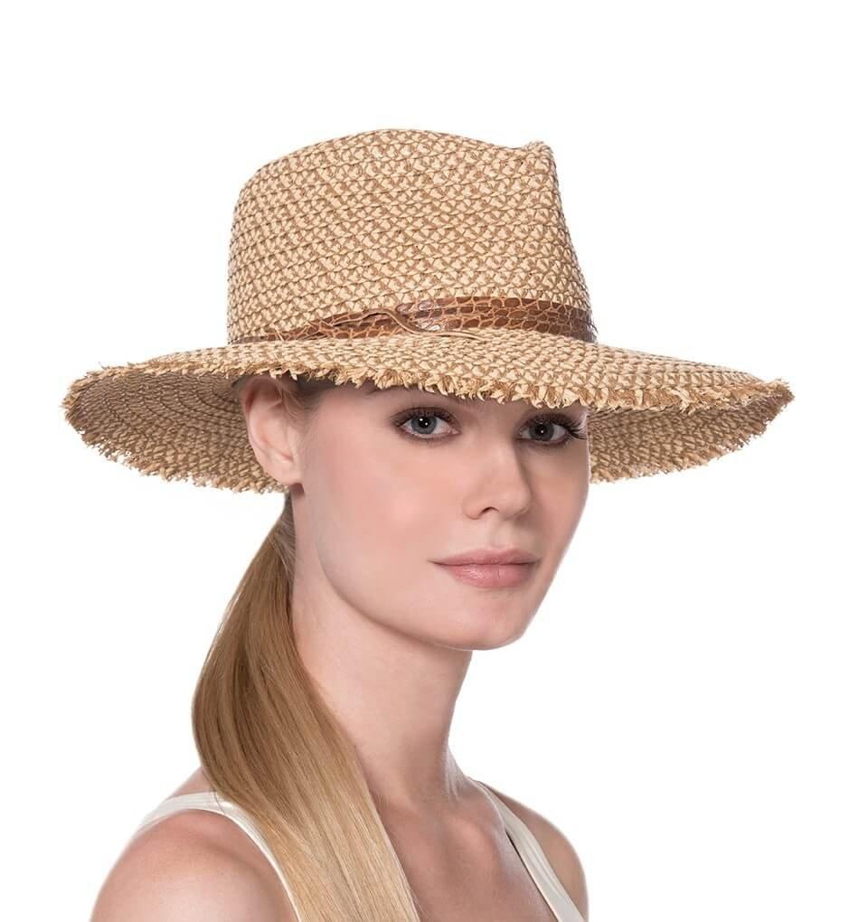 Eric Javits Fashion Designer Women's Headwear Hat - Squishee Feliz - Peanut by Eric Javits