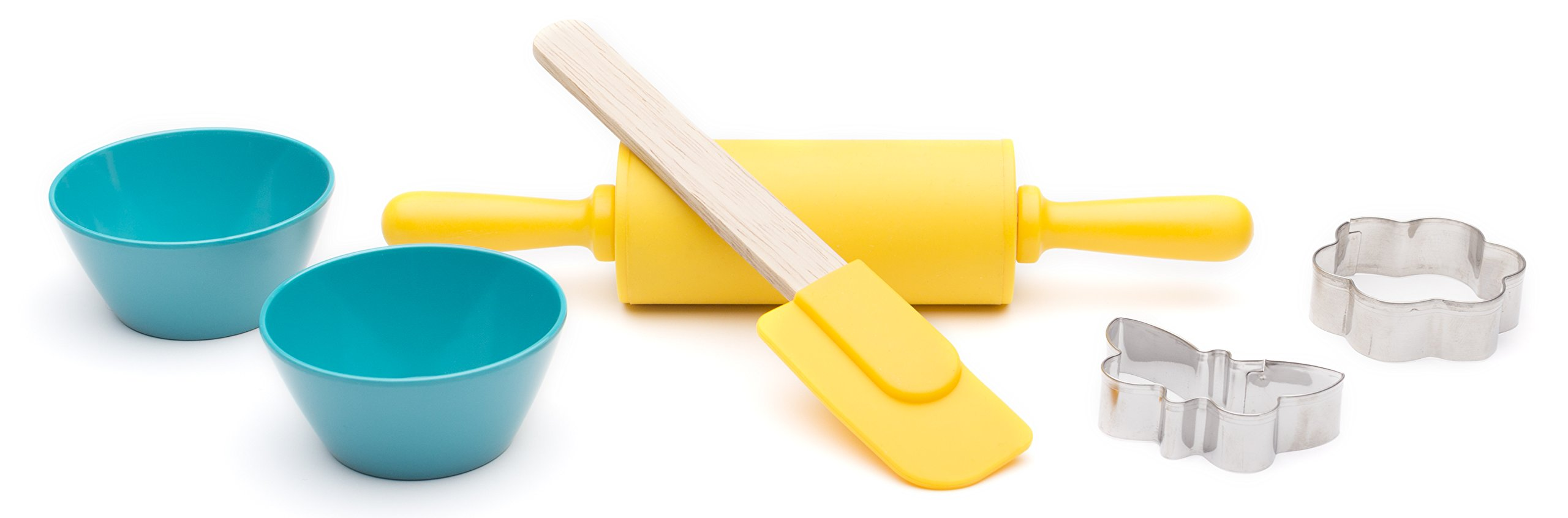 Zak Design Tiny Chef 6-Piece Kids Baking & Activity Set For Baking Cookies, Flower & Butterfly Design