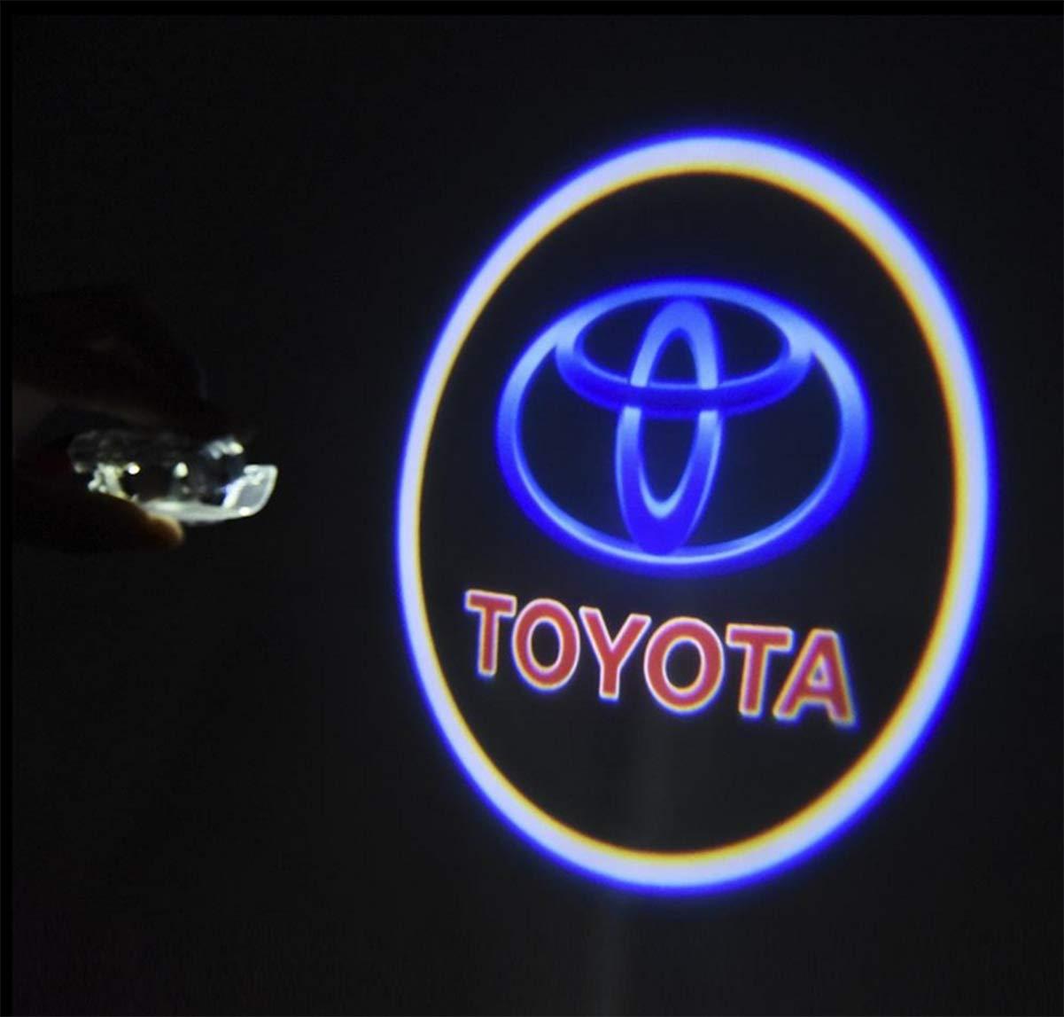 Liuer 2PCS Voiture LED Projecteur Lumi/ère Bienvenue Pour Porte de voiture d/écoratifs entr/ée Logo de projection Lumi/ères /éclairage HD Voiture Lampe Logo lumi/ère