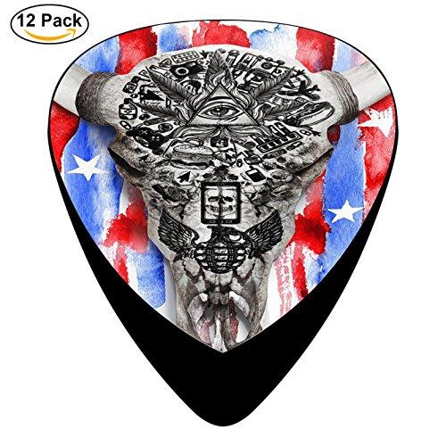 American Gods Guitar Picks Plectrum Electric Acoustic Guitar Bass Celluloid Pick Set (Ricky Halloween Store)