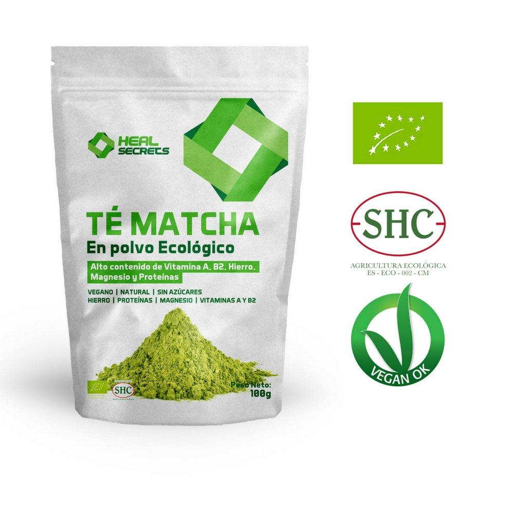 Té Verde Matcha Orgánico Japonés en Polvo Té Matcha Biológico Japonés Té Bio Grado Ceremonial - Culinario Matcha Ecológico de cultivo 100% Organico 100 Grm ...