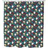 Uneekee Christmas For Kids Shower Curtain: Large Waterproof Luxurious Bathroom Design Woven Fabric