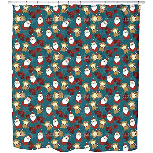 Uneekee Christmas For Kids Shower Curtain: Large Waterproof Luxurious Bathroom Design Woven Fabric by uneekee
