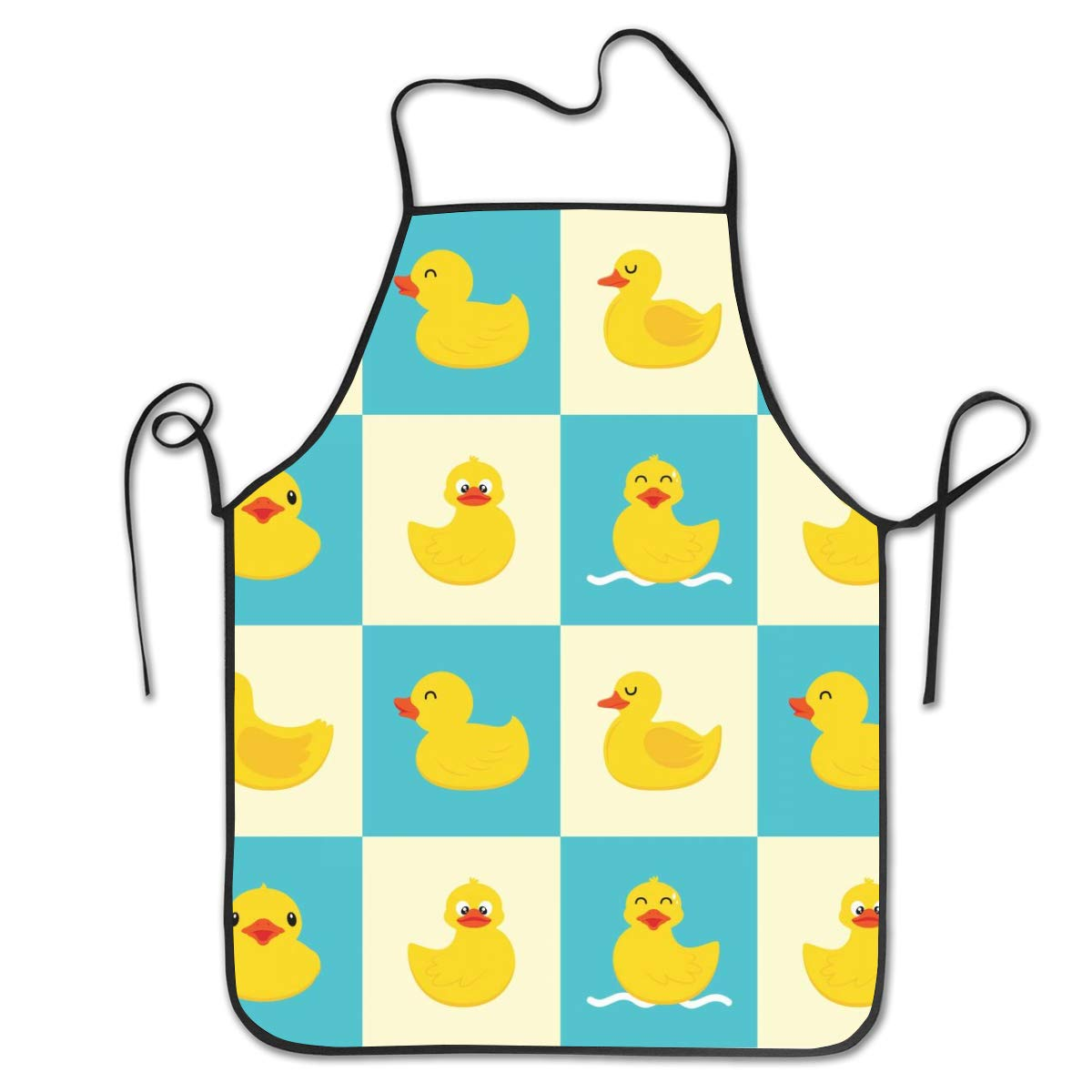RsenTal Man and Woman Funny Cooking Barbecue Apron Adjustable Kitchen Chef Baking Barbecue Bib Providing for Baristas Chefs Hairdressers Painters and Gardeners Funny Rubber Duck