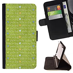For Sony Xperia M4 Aqua Case , Paño de la historieta linda- la tarjeta de Crédito Slots PU Funda de cuero Monedero caso cubierta de piel