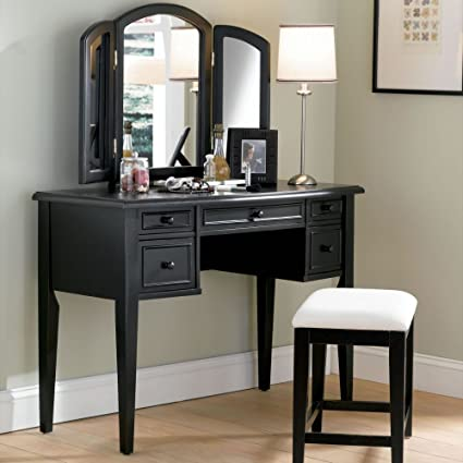 Powell Boulevard Antique Black Bedroom Vanity Set - Amazon.com: Powell Boulevard Antique Black Bedroom Vanity Set