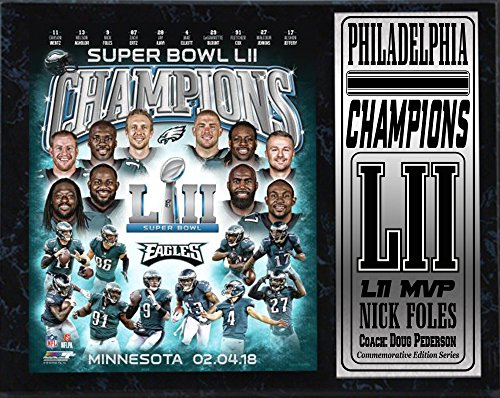Superbowl Champions Eagles LII World Champions 12x15 Plaque-By Encore Select