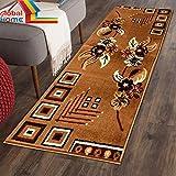 Global Home Carpet for Living Room -22X55 inch - Camel Gold