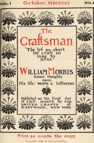 Pdf eBooks The Craftsman Magazine-Volume 1, Number 1-October 1901