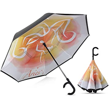 Amazon.com: Paraguas invertido, Reverse paraguas, cierre ...
