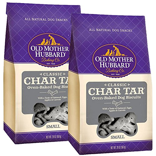 - Old Mother Hubbard Classic Crunchy Natural Dog Treats, Char-Tar Small Biscuits, 20-Ounce Bag, Small Biscuits, 20-Ounce, 2 Bags