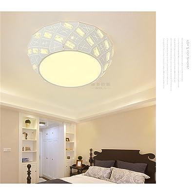 ANGEELEE Minimaliste Et Moderne Plafonnier Led Creative Master Chambre  Salon Lumière Lampe éclairage Chambre Fer à Repasser Lit Pour Enfants 47CM  Lampes