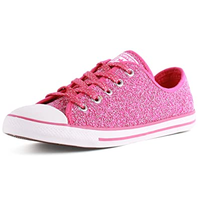 50974346acf9 Converse Women s As Dainty Femme Sparkle CVS Ox Trainers Pink Size ...