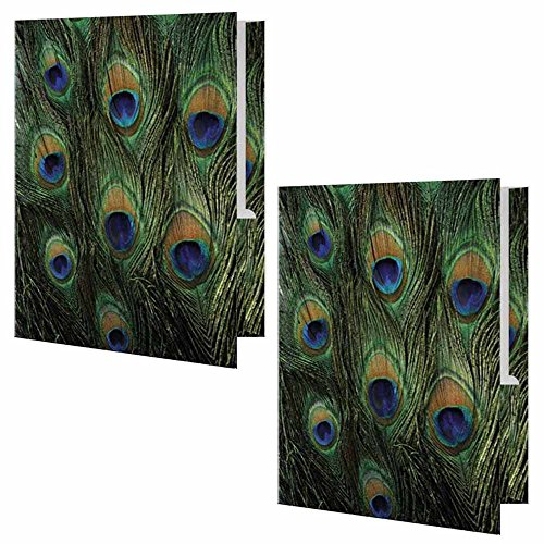 Peacock Print Presentation File Folder - Set of Two