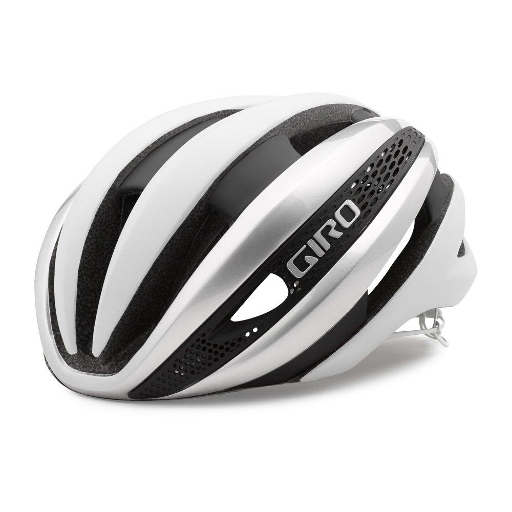 GIRO(ジロ) シンセ ロードヘルメット トップモデル 【日本正規品/2年間保証】 Medium マットホワイト×シルバー B01N13XSCM